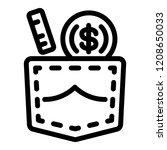 bribery pocket money icon.... | Shutterstock .eps vector #1208650033