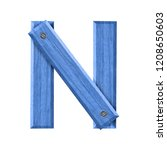 the letter n symbol in a trendy ... | Shutterstock . vector #1208650603