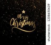 merry christmas sparklers in... | Shutterstock .eps vector #1208650639