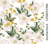 seamless pattern with white... | Shutterstock .eps vector #1208651986