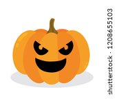 halloween pumpkin. vector... | Shutterstock .eps vector #1208655103