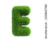 grass letter e isolated on... | Shutterstock . vector #120865780