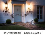 the house is decorated for... | Shutterstock . vector #1208661253