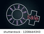 black friday logo lettering... | Shutterstock .eps vector #1208664343