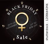 black friday logo lettering... | Shutterstock .eps vector #1208664346