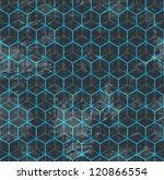 blue cube seamless  raster... | Shutterstock . vector #120866554