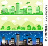 town and city background | Shutterstock .eps vector #120867019