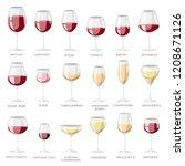 wine glass vector winery... | Shutterstock .eps vector #1208671126