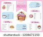 menu dessert vector cafe design ... | Shutterstock .eps vector #1208671153