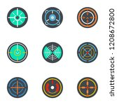 sniper aim icon set. flat set... | Shutterstock .eps vector #1208672800