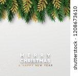 christmas vector background.... | Shutterstock .eps vector #1208673610