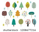scandinavian cute trees   Shutterstock .eps vector #1208677216