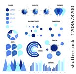 infographic elements  data... | Shutterstock .eps vector #1208678200