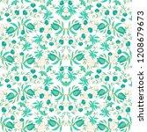 seamless vector floral pattern ... | Shutterstock .eps vector #1208679673