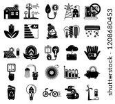 energy saving icon set. simple...   Shutterstock .eps vector #1208680453