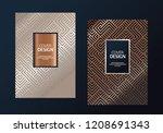 book cover design. annual... | Shutterstock .eps vector #1208691343