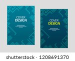 book cover design. annual... | Shutterstock .eps vector #1208691370