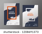 book cover design. annual... | Shutterstock .eps vector #1208691373