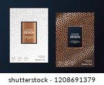 book cover design. annual... | Shutterstock .eps vector #1208691379