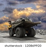 Heavy Mining Truck Driving...