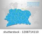 modern of ivory coast map... | Shutterstock .eps vector #1208714110