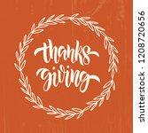 thanksgiving   hand drawn... | Shutterstock .eps vector #1208720656