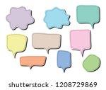 vector bubbles speech set. hand ...   Shutterstock .eps vector #1208729869