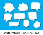 vector bubbles speech set. hand ...   Shutterstock .eps vector #1208730166