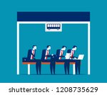 people sitting at the bus stop  ... | Shutterstock .eps vector #1208735629