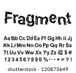 abstract fragment font. vector... | Shutterstock .eps vector #120873649
