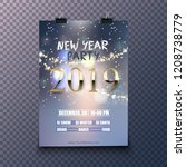 creative 2019 new year party... | Shutterstock .eps vector #1208738779