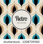 seamless retro pattern in the... | Shutterstock .eps vector #1208739583