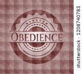 obedience red seamless... | Shutterstock .eps vector #1208740783