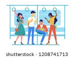 international people go to... | Shutterstock .eps vector #1208741713