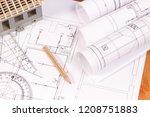 electrical diagrams ... | Shutterstock . vector #1208751883