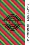 injure christmas style badge.. | Shutterstock .eps vector #1208762449
