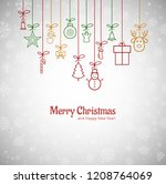 beautiful merry christmas... | Shutterstock .eps vector #1208764069