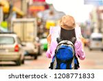young asian women backpacker... | Shutterstock . vector #1208771833