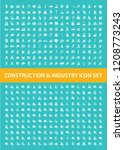 construction vector icon set... | Shutterstock .eps vector #1208773243