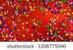 carnival confetti background.   ...   Shutterstock .eps vector #1208775040