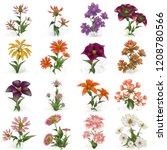 2d illustration. decorative... | Shutterstock . vector #1208780566