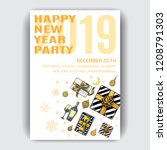 invitation card for a friendly... | Shutterstock .eps vector #1208791303