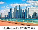 dubai marina skyline of a... | Shutterstock . vector #1208791576