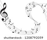 music notes abstract. music... | Shutterstock .eps vector #1208792059