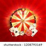 flyer for casino online with...   Shutterstock .eps vector #1208793169
