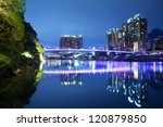 a view from the park to the old ...   Shutterstock . vector #120879850