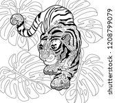 coloring pages. coloring book... | Shutterstock .eps vector #1208799079