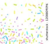 sprinkles grainy. sweet...   Shutterstock .eps vector #1208809096