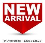 red vector banner new arrival | Shutterstock .eps vector #1208813623