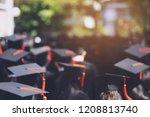 blurred image backside the... | Shutterstock . vector #1208813740